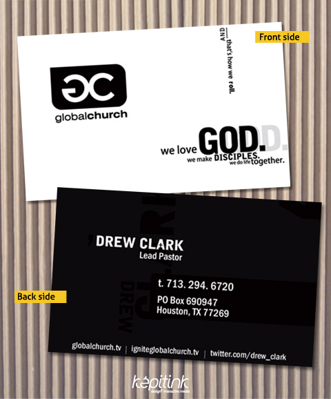 typograhy driven business card